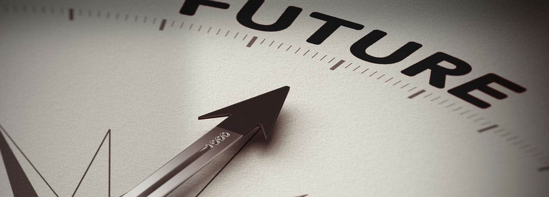 Compass pointing towards the word Future